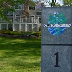 hole one marker at Cress Creek golf course