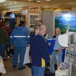 people milling around booth for Shenandoah Air Conditioning & Heating Inc